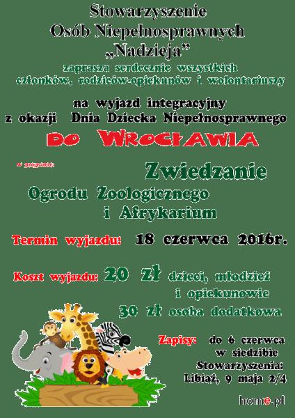 Zapraszamy na wyjazd do Wrocławia